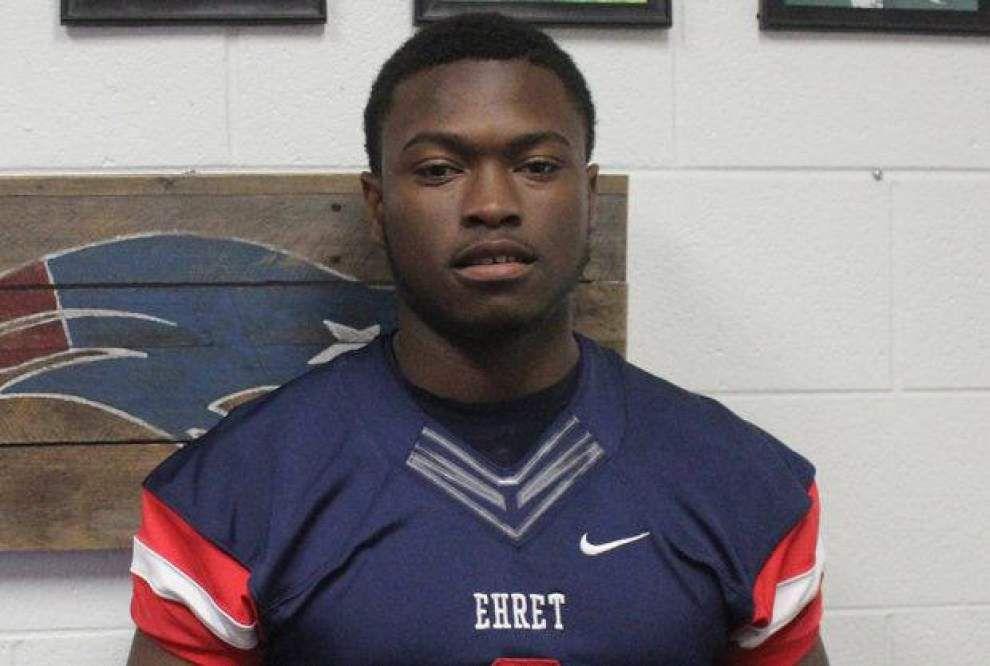 Ehret linebacker De' Jon Harris commits to Arkansas, and Patriots quarterback Caron Baham pledges to Missouri. _lowres
