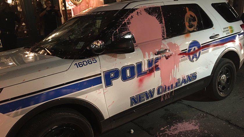 NOPD cruiser vandalized