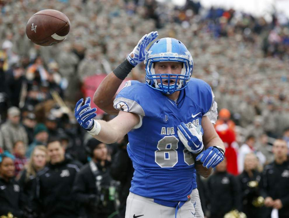 Walker: On leave from Air Force, Saints' TE Garrett Griffin keeping options open _lowres