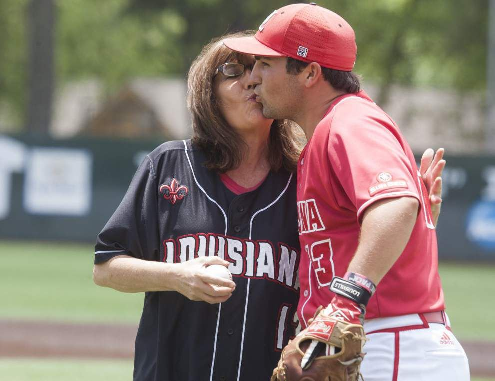 Photos: Univ. of Louisiana-Lafayette baseball seniors celebrate Mother's Day and Senior Day during a combined ceremony on Sunday _lowres