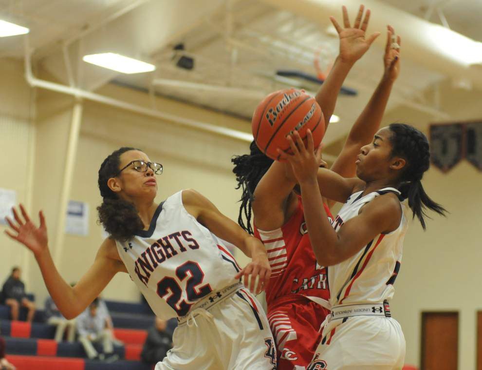 Lafayette Christian girls pull away from Central Catholic thanks to pressure defense _lowres