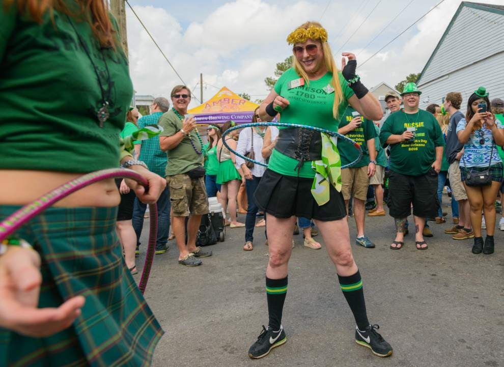 Photos, video: New Orleans celebrates St. Patrick's Day at annual block party _lowres