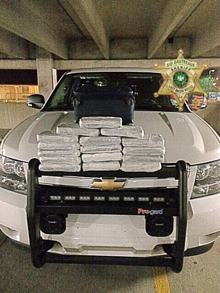 Baton Rouge authorities seize suspected cocaine worth $1.8 million, found in unclaimed luggage on bus _lowres