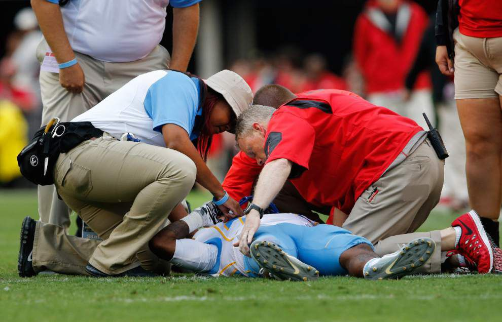 Southern's Devon Gales undergoes successful spinal surgery, remains in Georgia hospital _lowres