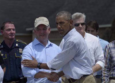 Barack Obama, John Bel Edwards (copy)