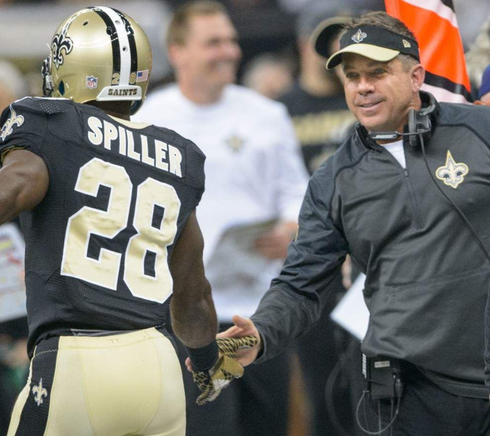 C.J. Spiller says he's ready to handle an increased role; Mark Ingram has surgery; Keenan Lewis says 'we'll write this story again' _lowres