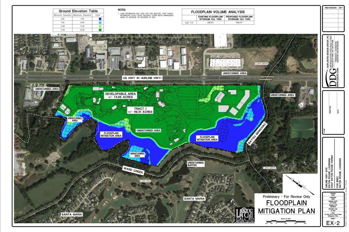 Duplantis Design Zoo flood mitigation map