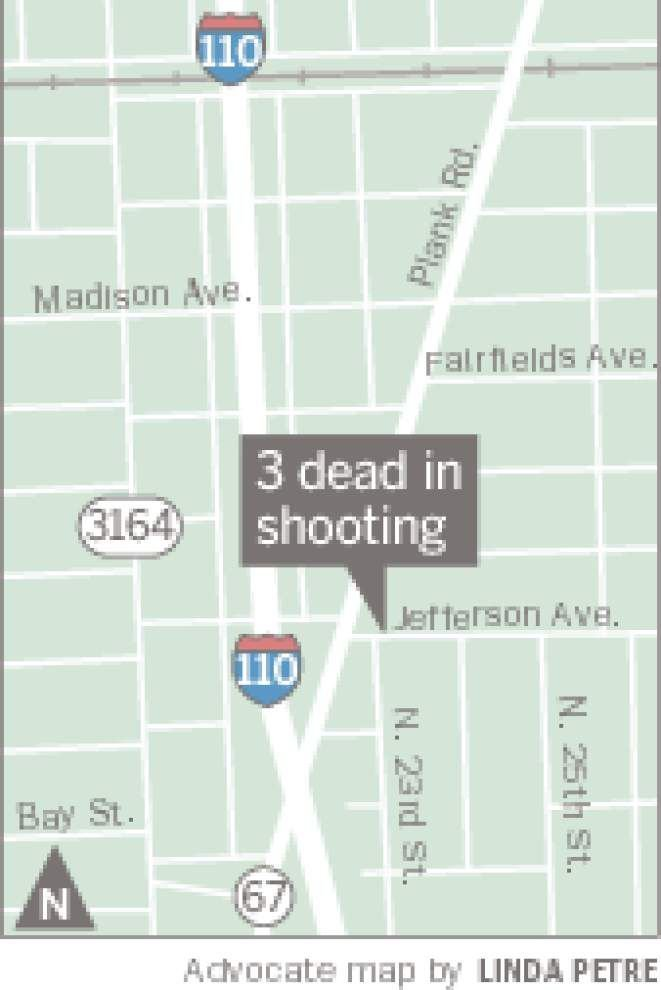 Three Baton Rouge men shot to death; neighbors report hearing no argument, just shots fired _lowres