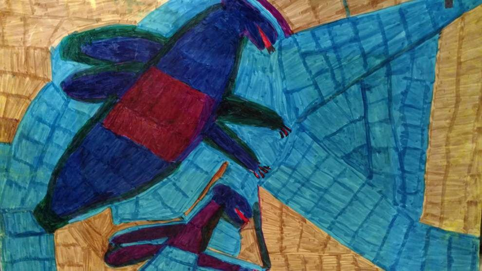 Works by self-taught artist Willie White on display at Myrtle Banks Building _lowres