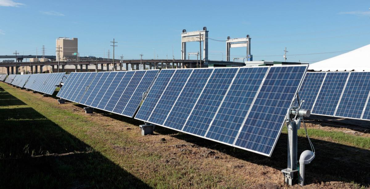 39 a first step 39 entergy unveils new solar power project in new orleans business. Black Bedroom Furniture Sets. Home Design Ideas