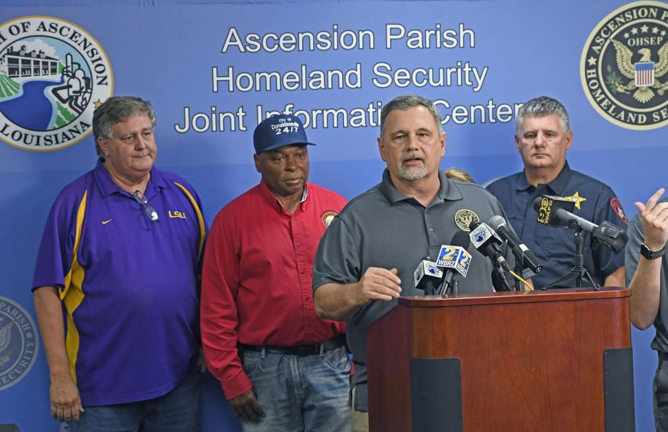 As Barry moved through Ascension, Parish President Kenny Matassa, key staff were at Las Vegas conference