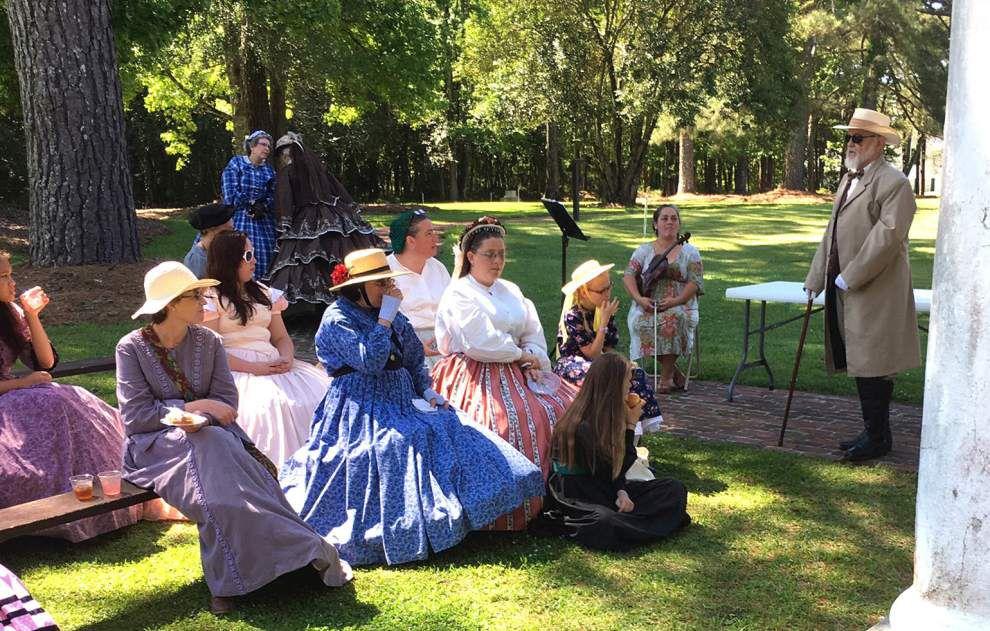 Ladies tea recalls era during re-enactment _lowres