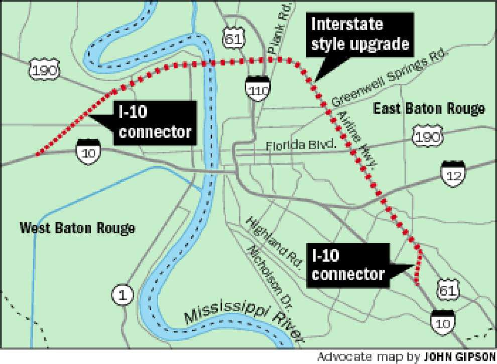 Baton Rouge Traffic Map Public private 'inner loop' idea to ease Baton Rouge traffic faces  Baton Rouge Traffic Map