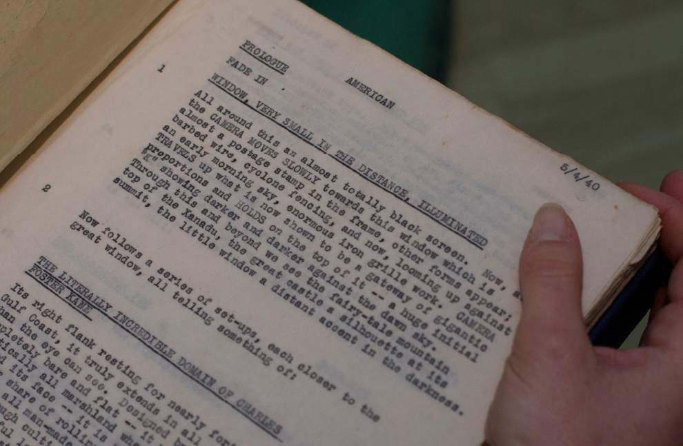 'Citizen Kane' script up for sale at Sotheby's _lowres