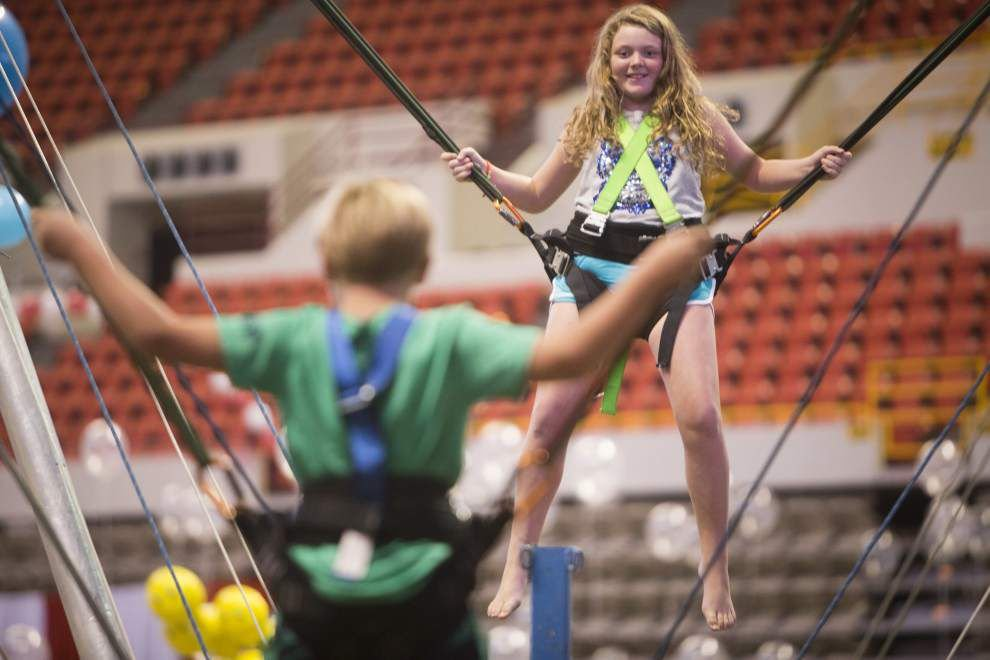 Photos: Wall climbing, Monster Spider Jump, Leaning Tower of Pizza some of the events at Games of Acadiana Saturday _lowres