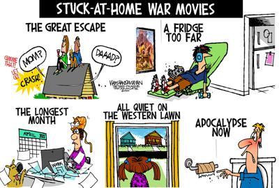 Walt Handelsman: Stuck-At-Home War Movies