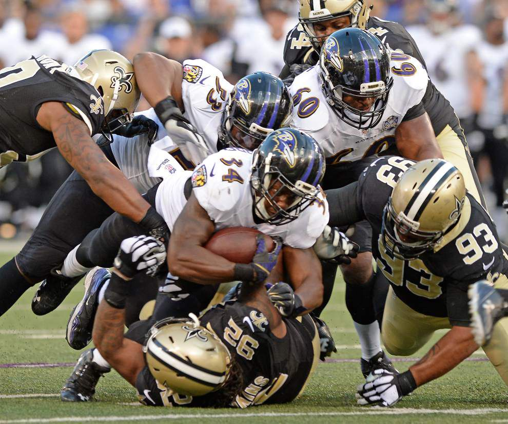 Photos: Black-and-gold fans show up, Saints back to work in preseason opener vs. Ravens _lowres