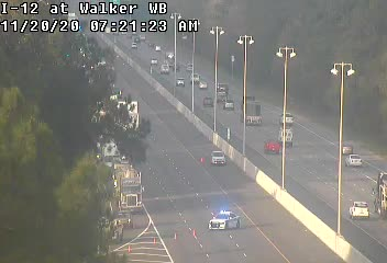 I-12 closed at Walker after fiery crash with tanker truck