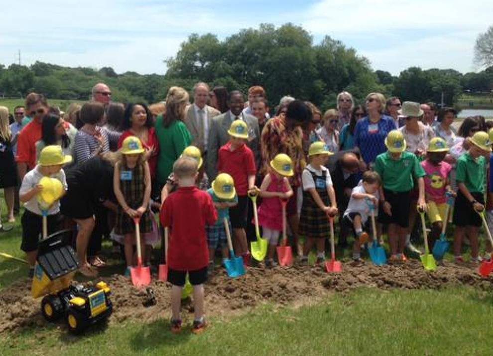 Kids take up shovels to break ground for new Baton Rouge children's museum _lowres