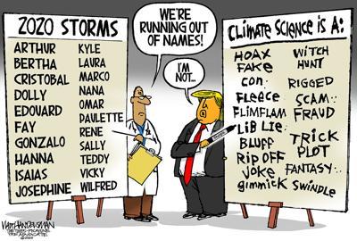 Walt Handelsman: Running out of Storm Names?!