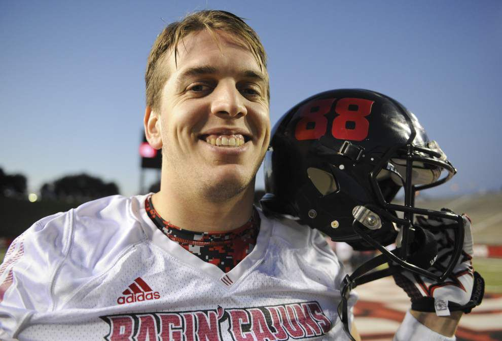 Cajuns' Evan Tatford prepping to go from blocking lineman to filling cavities _lowres