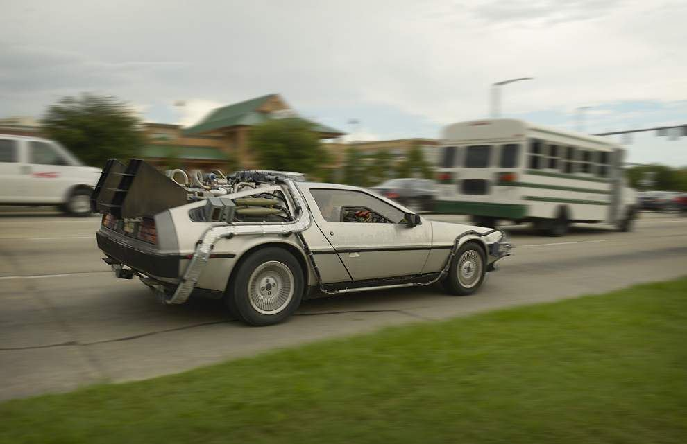 'Back to the Future': Drew Guillory cruising Baton Rouge in DeLorean that will 'change your life' _lowres