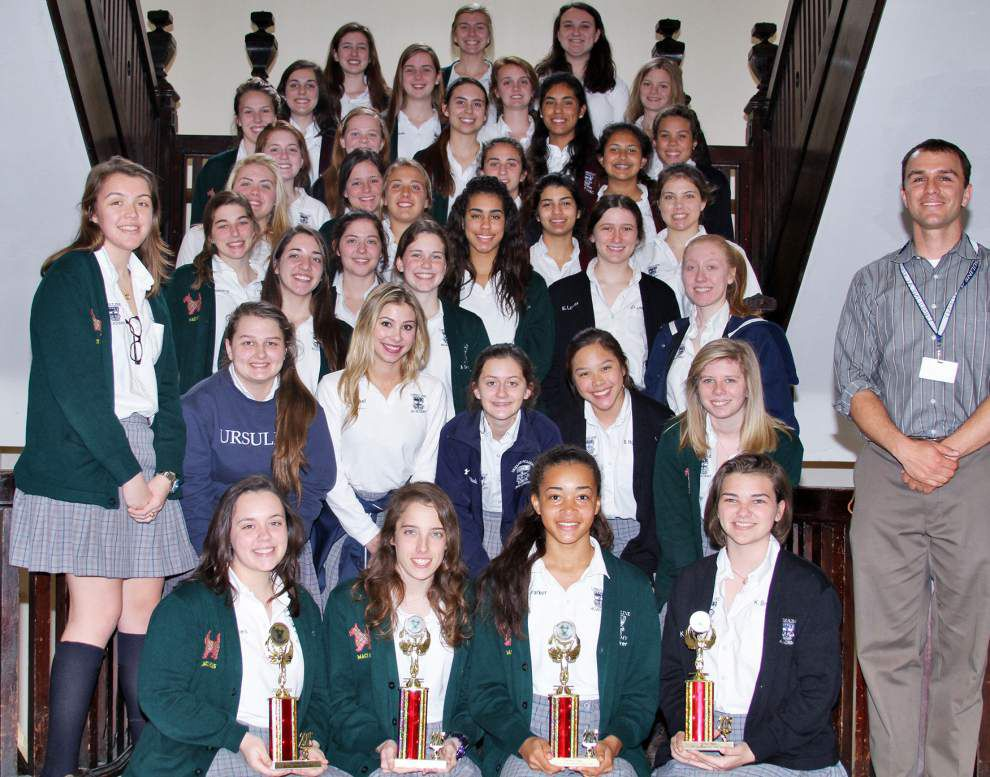 Ursuline students tie for 1st in tournament _lowres