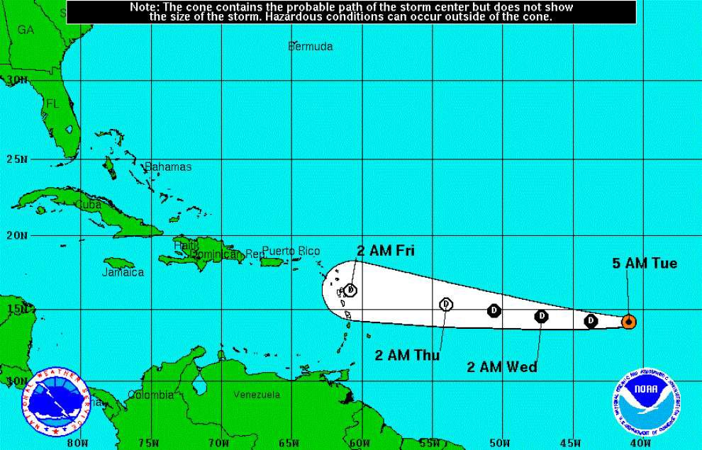 Tropical Storm Grace expected to weaken to tropical depression _lowres
