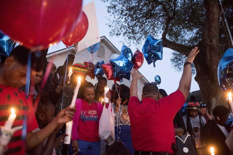 Family, friends gather to remember Baton Rouge man shot and killed during chase _lowres