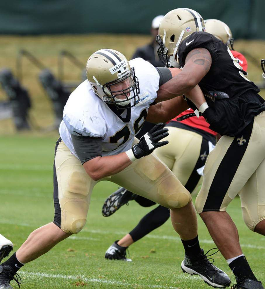 Saints re-sign offensive lineman Bryce Harris _lowres