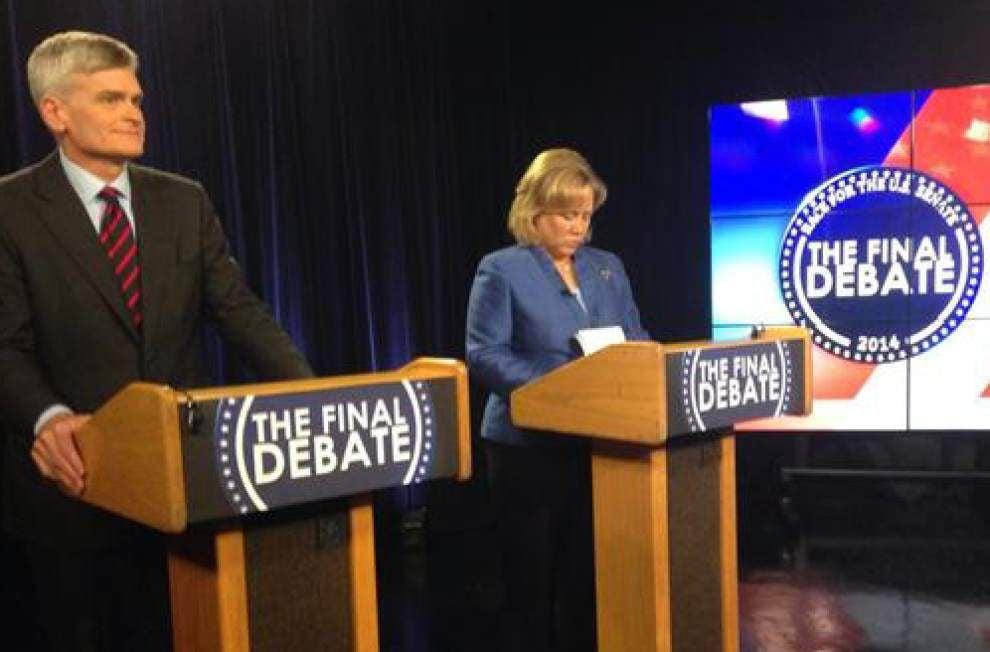 Mary Landrieu, Bill Cassidy clash in heated debate for open U.S. Senate seat _lowres
