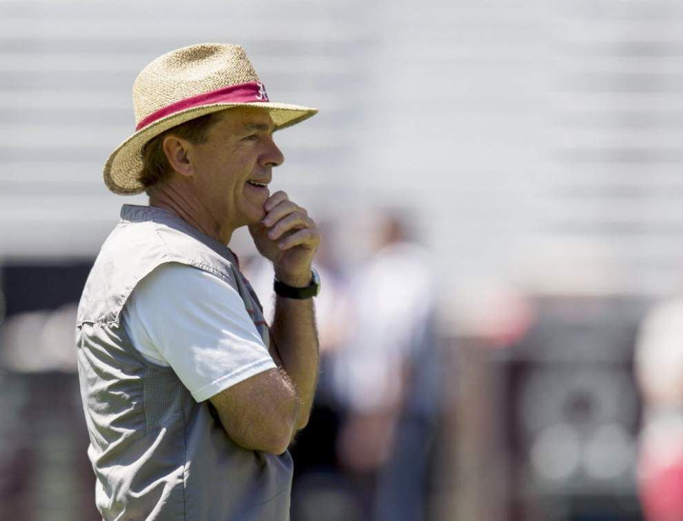 Crimson Tide coach Nick Saban on caravan tour: 'We used to be a team nobody wanted to play . . . we need to get our mojo back' _lowres