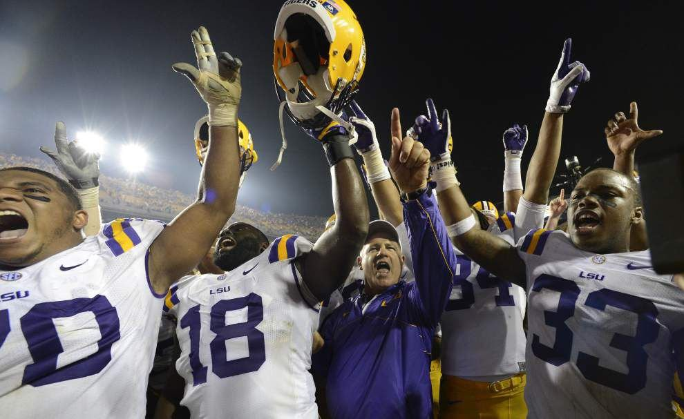 Photos: LSU coach Les Miles' top-10 wild-and-craziest night games in Tiger Stadium _lowres