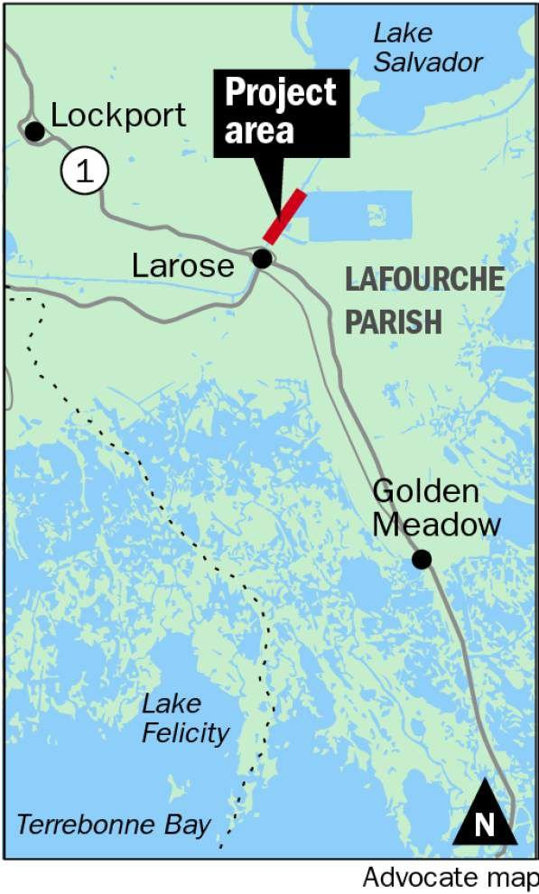 Project near Larose could be model for other areas with shoreline problem on the Gulf Intracoastal Waterway _lowres