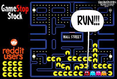 Walt Handelsman: GameStop Stock