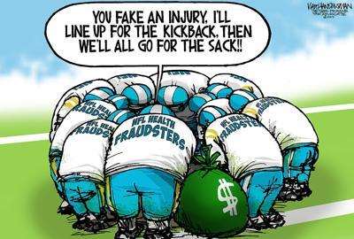 Walt Handelsman: NFL Medical Fraud