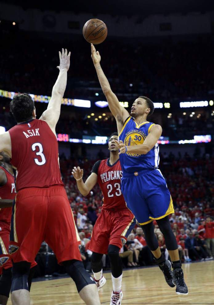 Heartbreak at the Smoothie King Center: Golden State defeats Pelicans 123-119 in overtime to take 3-0 series lead _lowres