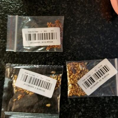 Mystery seeds from China