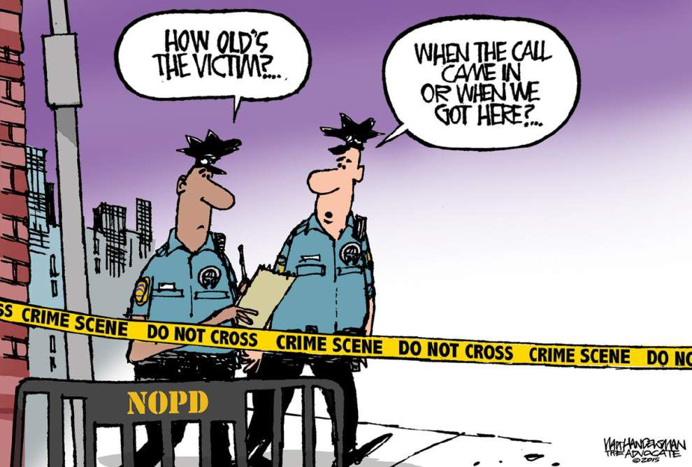 Walt Handelsman: News report points to serious problems _lowres