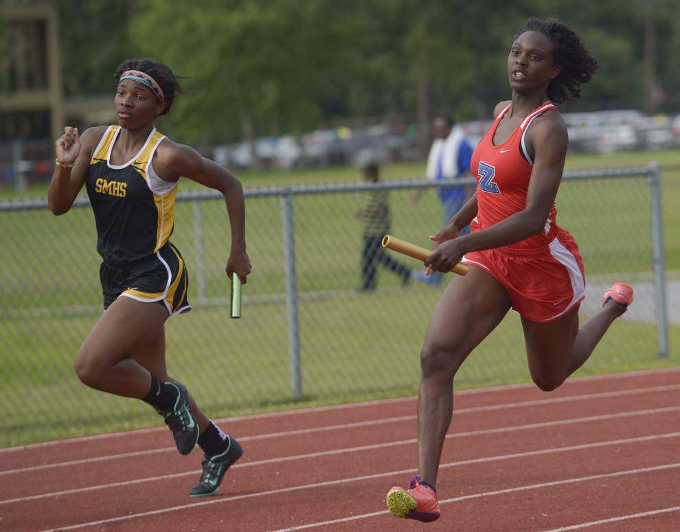Central's Josh Brown, Zachary boys and girls squads star at the District 4-5A meet _lowres
