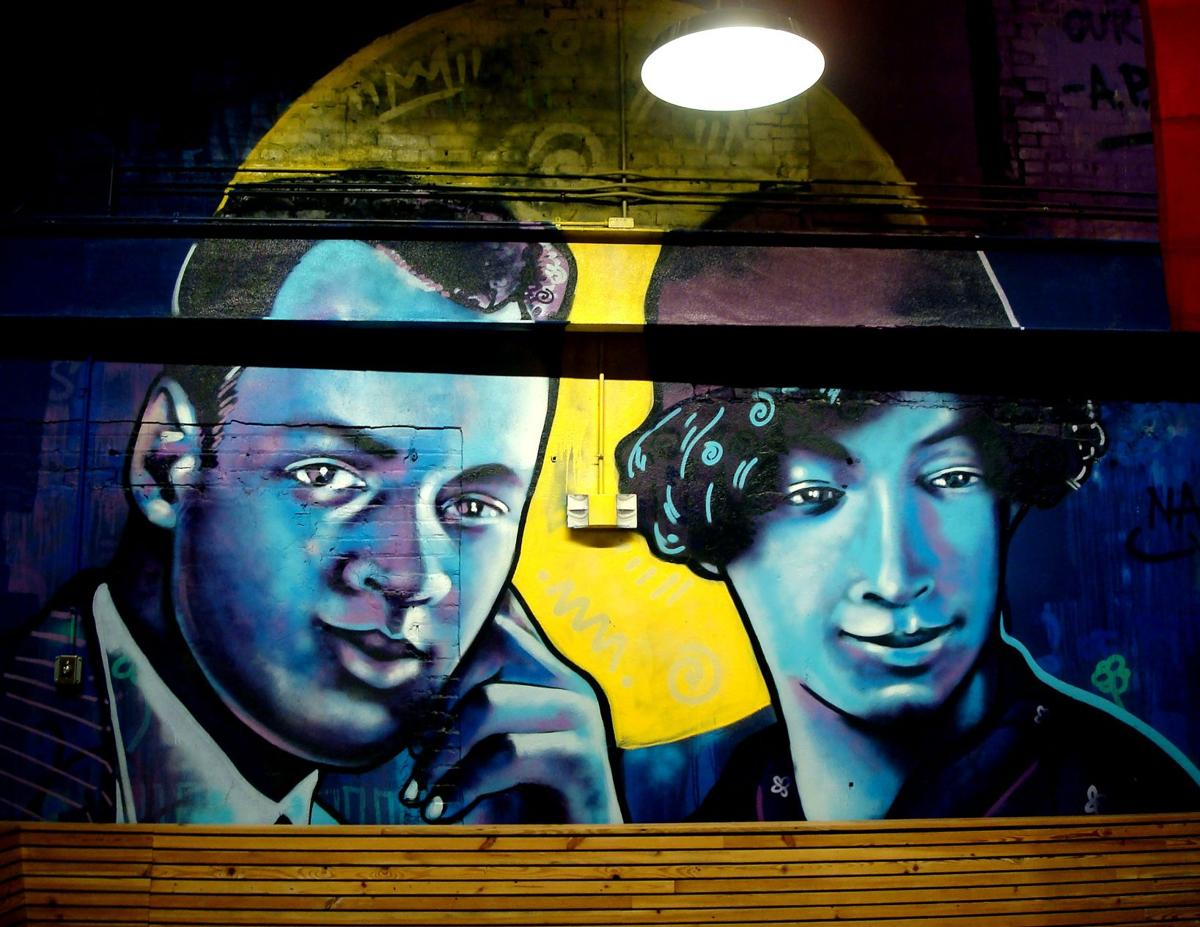 B-Mike's mural pays tribute to A.P. and Lucille Tureaud at Pythian Market_lowres