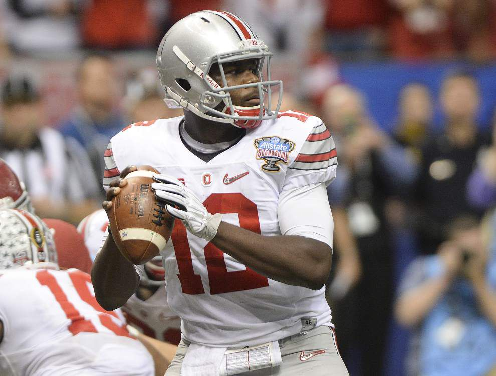 Ohio State quarterback Cardale Jones shakes off interception to figure out Alabama _lowres