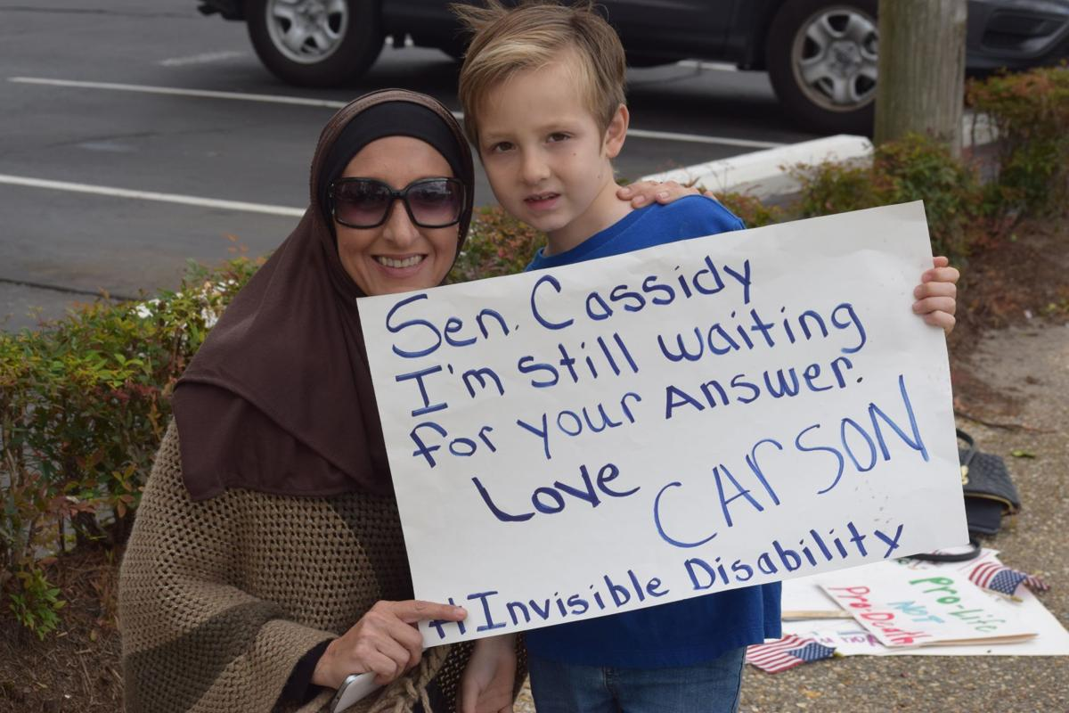 With vigil to save the Affordable Care Act, protesters send message to Sen. Bill Cassidy_lowres