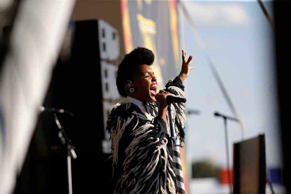 Janelle Monae honors mentor Prince with emotional Jazz Fest performance _lowres