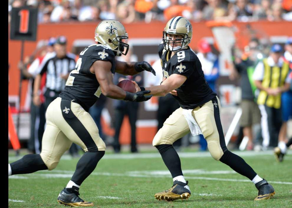 Video: Saints running back Mark Ingram talks about his hand injury against the Browns _lowres