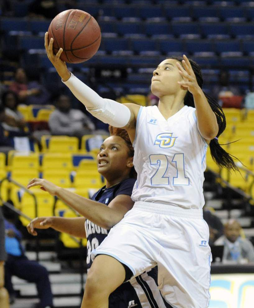 Southern women hand Jackson State first SWAC loss in 84-57 rout _lowres
