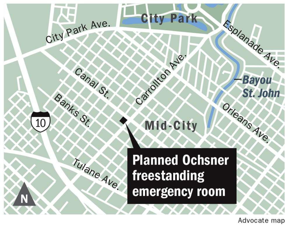 Demolition approval clears way for an Ochsner freestanding emergency room in Mid-City _lowres