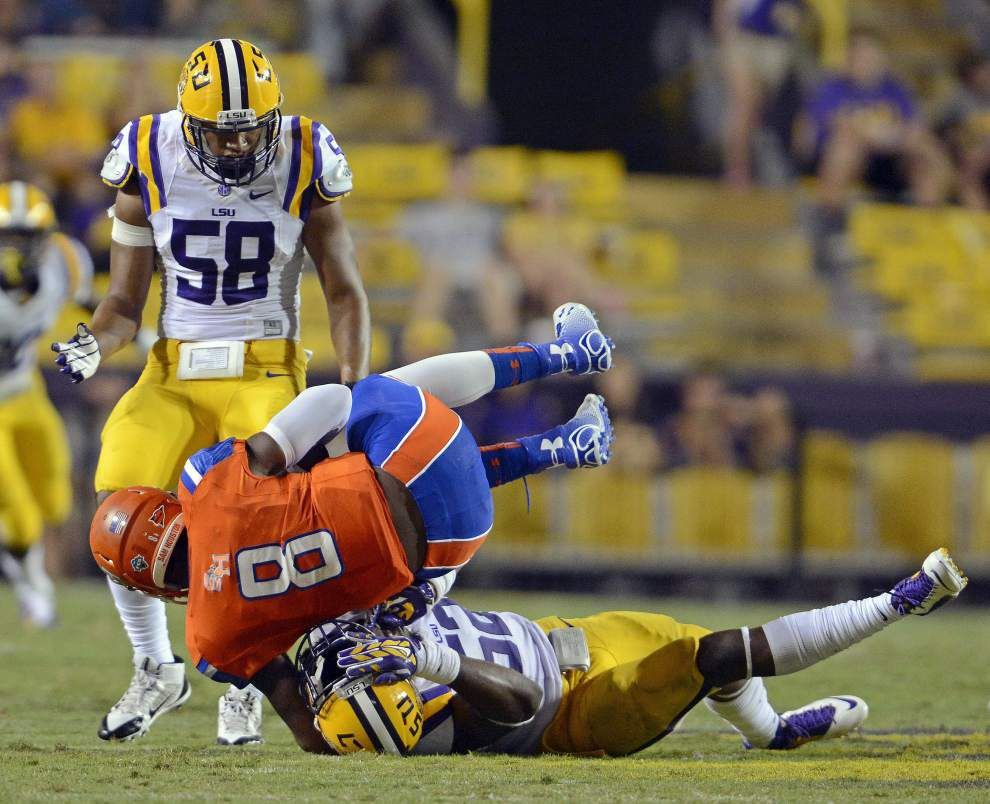 LSU defense's shutout streak is nearly 6 quarters after blanking of Sam Houston State _lowres