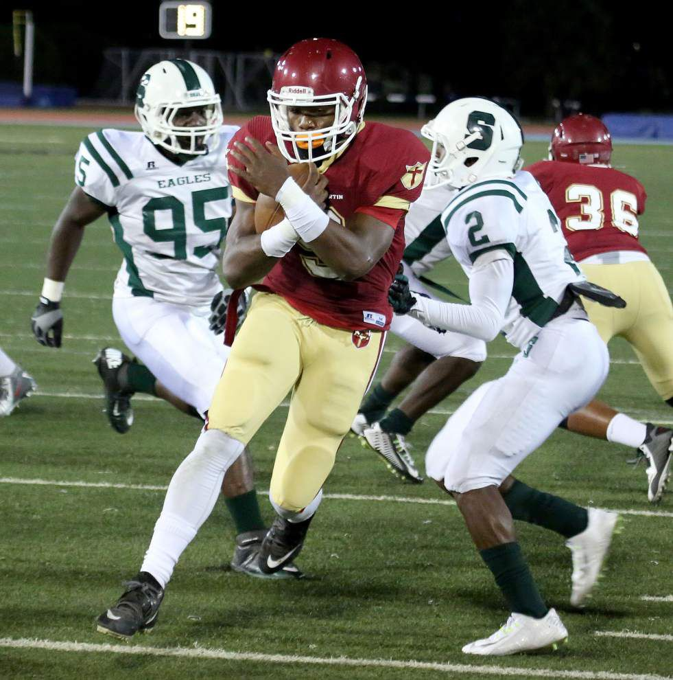 Check out top Baton Rouge-area, statewide high school footbal stat leaders, current standings (after Week 2) _lowres