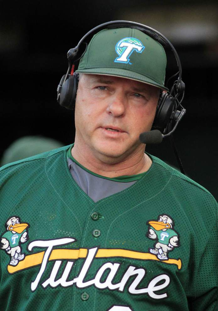 Tulane baseball notebook: As Texas and Alabama jobs open, A.D. Troy Dannen lauds coach David Pierce; Wave celebrates first AAC title _lowres
